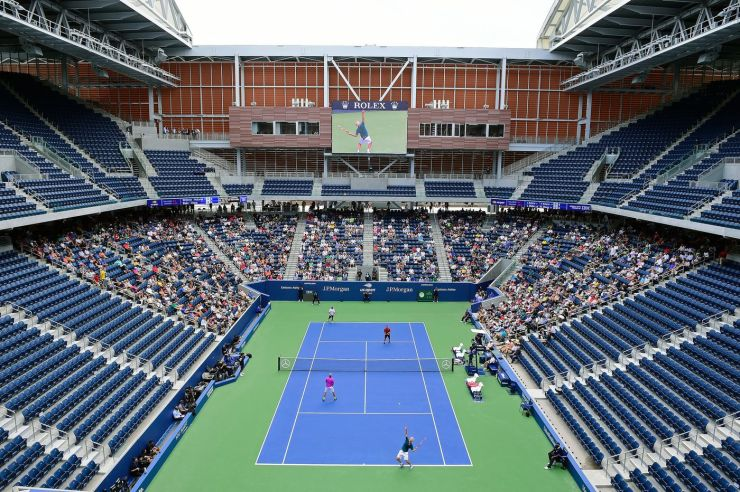 John McEnroe helps officially open the U.S. Open's rebuilt Louis Armstrong Stadium